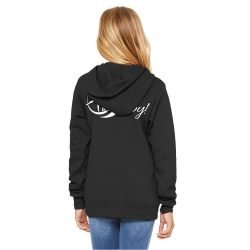 Bella+Canvas Black Unisex Youth Fleece Hooded Sweatshirt